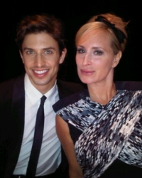 Nick Adams star of Priscilla Queen of the Desert on Broadway Presenting with Sonja Morgan The Beauty Awards